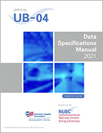UB-04 Data Specifications Manual Cover 2021